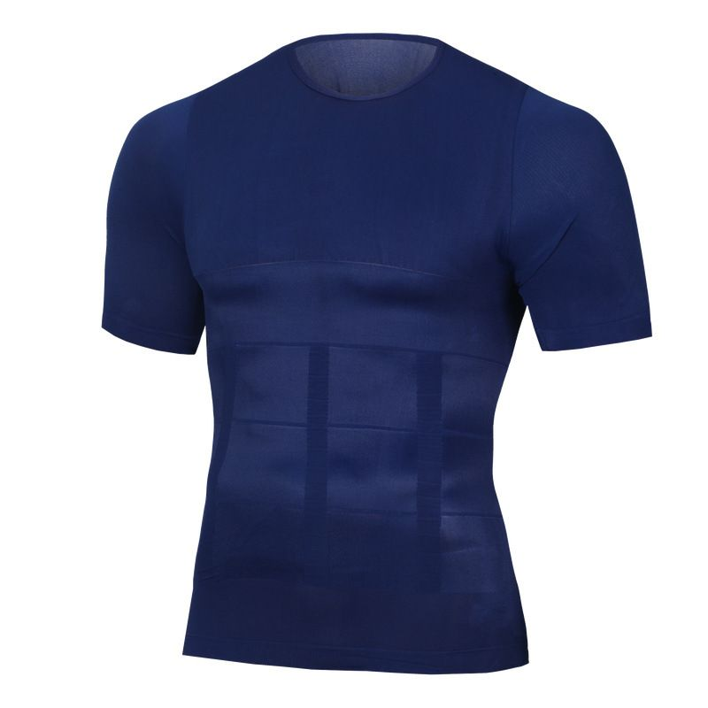 NEW Skinny Shaper Body building Fat Burn Chest Tummy Shirts Corset Male Belly Abdomen Corrector Compression Posture Vest