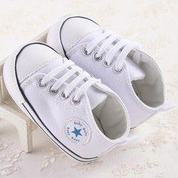 Nuevo deporte de la lona zapatos de bebé niños recién nacidos niñas primeros caminante Infantil Toddler Soft sole Prewalker zapatillas para 0-18 M