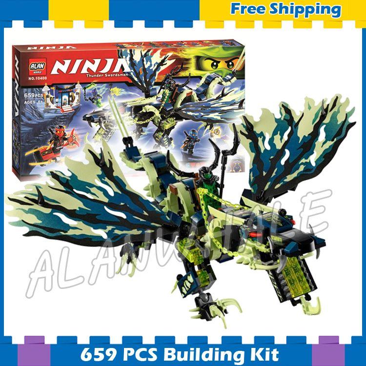 658 stücke Bela 2016 neue 10400 Ninja Angriff der Morro Drachen Gebäude Kit Blocks Set Kompatibel Mit lego