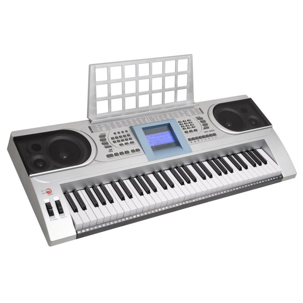 MK-920 100 Timbres 100 Rhythms Electronic Organ 61-Key Electronic Keyboard LCD Electone MP3 Music Player Electric Piano Silver