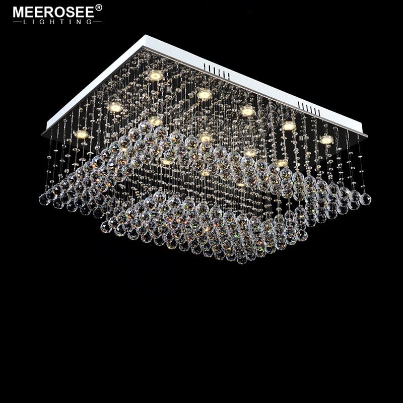 Gorgeous Crystal Chandelier Light Rectangle Crystal Lamp for Living Dining Room Ceiling Lustres lamparas de techo abajur