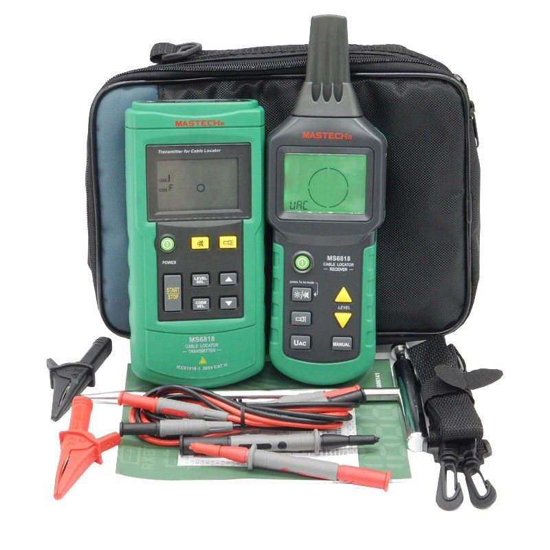 Digital MASTECH MS6818 advanced wire tester tracker multi-function Cable detector 12~400V Pipe Locator Meter With blacklight