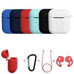 3в1 нескользящий Силиконовый чехол для наушников защитная кожа анти-потерянный провод Eartips беспроводной наушник чехол для Apple AirPods
