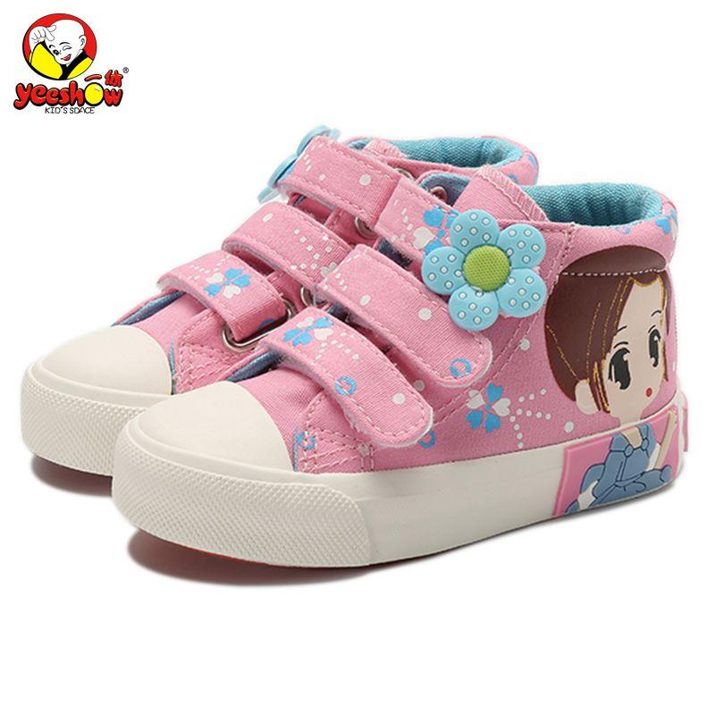 2019 nouveau printemps enfants toile baskets marque enfants chaussures décontractées Denim filles princesse chaussures étudiant bottes plates