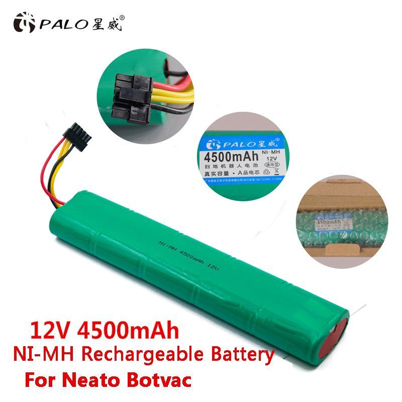 PALO nouveau 12 V Ni-MH 4500 mAh aspirateur robot batterie dans des Batteries rechargeables Pack pour Neato Botvac 70e 75 D75 80 85 D85 etc