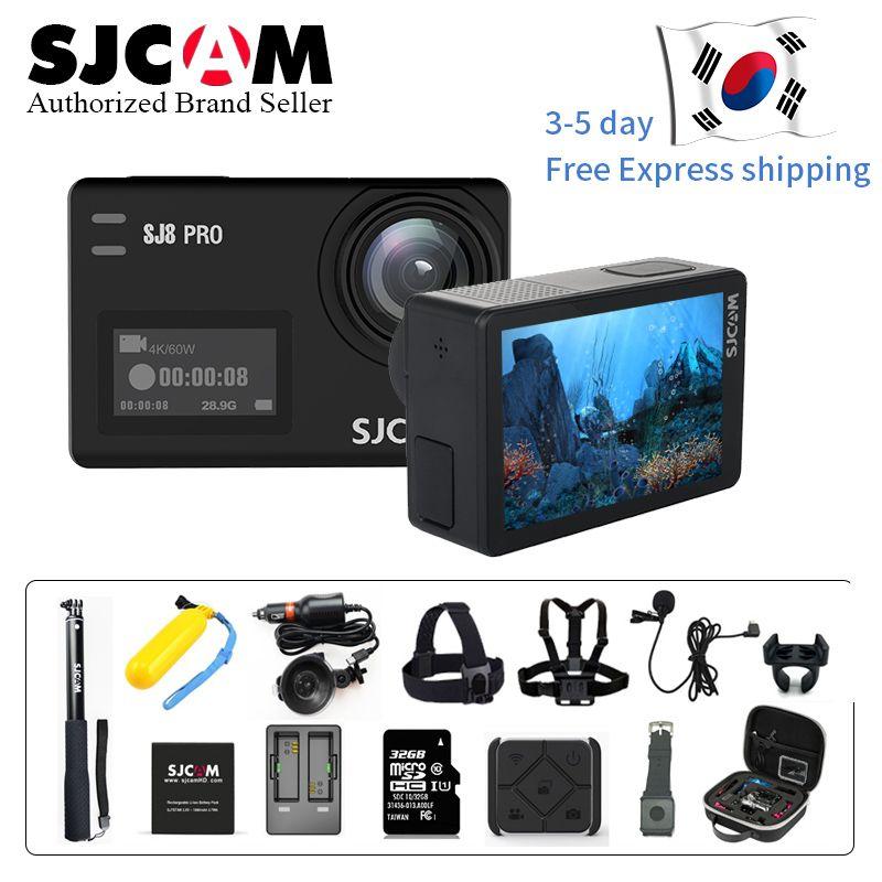 Lager! SJCAM SJ8 Pro 4 karat 60fps Sport Kamera Wasserdichte Anti-Schütteln Dual Touch Screen 8 * Digital Zoom WiFi fernbedienung Aktion DV