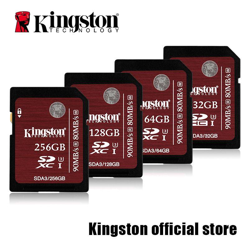 Kingston Caméra carte SDHC/SDXC Classe 10 UHS-I Carte SD A3-32 GB/64 GB/128 GB/256 GB