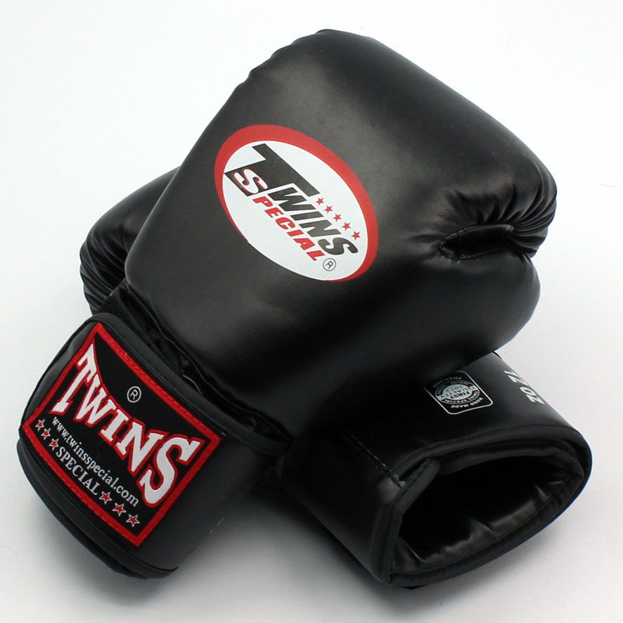 Twins Gloves 8 10 12 14 oz Kick Boxing Gloves Leather PU Sanda Sandbag Training Black Boxing Gloves Men Women Guantes Muay Thai