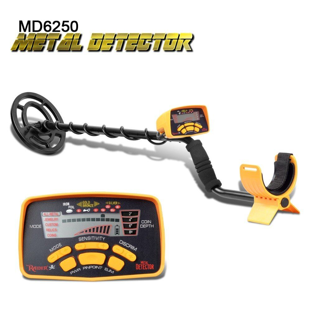Professional MD6250 Underground Metal Detector High Performance Treasure Hunter All Metal Gold Digger Coins Pinpointer <font><b>Detecting</b></font>