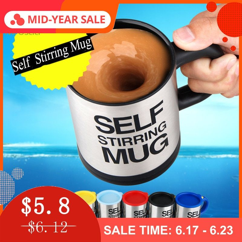 400 ml tasses automatique électrique paresseux auto agitant tasse café lait mélange tasse intelligente en acier inoxydable jus mélange tasse Drinkware