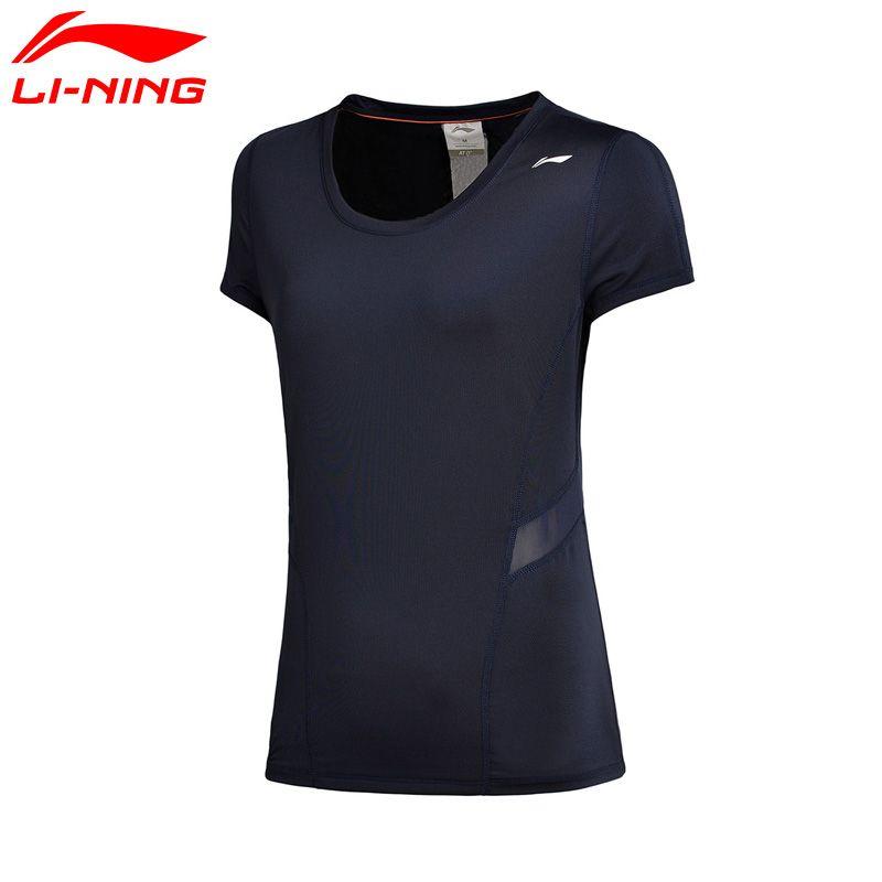 Li-Ning Women Training T-shirts Short Sleeve Breathable Comfortable LiNing Sports Tee T-shirts ATSM196 WTS1330