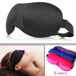 1 unids 3D sueño máscara para dormir máscara de ojo Sombras cubierta Sombras parche mujeres hombres Soft Blindfold portátil viaje eyepatch