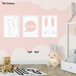 Style nordique Enfants Décoration Chambre des Filles Photos Affiches et Gravures Affiche Mur Photo pour Salon Wall Art Toile impressions