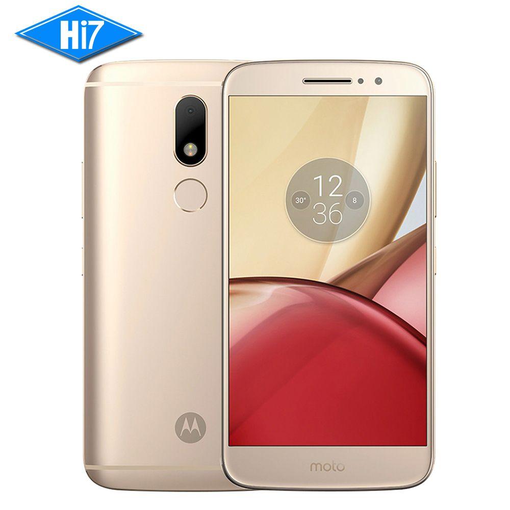 NOUVELLE D'origine Motorola Moto M XT1662 Mobile téléphone 4G RAM 32G ROM Octa core Dual SIM 4G LTE 5.5 ''16.0MP D'empreintes Digitales 3050 mAh