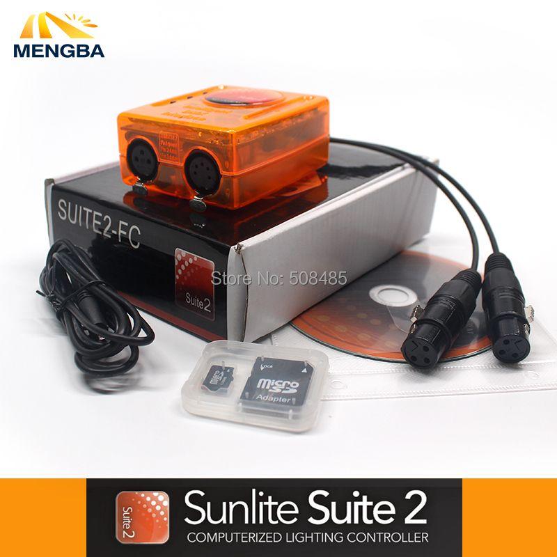 Professional Stage controlling software Sunlite Suite2 FC DMX-USD Controller DMX good for DJ KTV Party LED Lights Stage Lighting