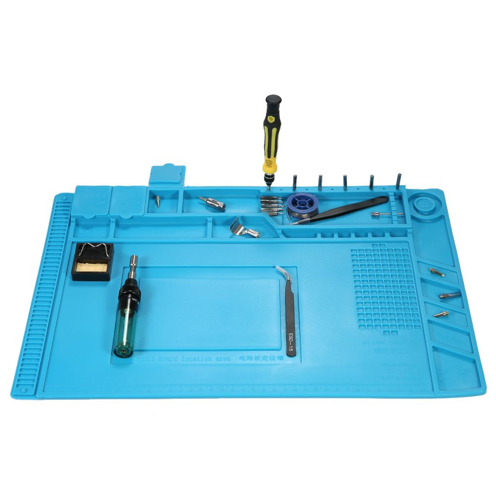 Löten Pad hitzebeständige Silikon Heißluftpistole Lötstation Reparatur Isolation Pad Schreibtisch Matte Isolator Wartung Plattform