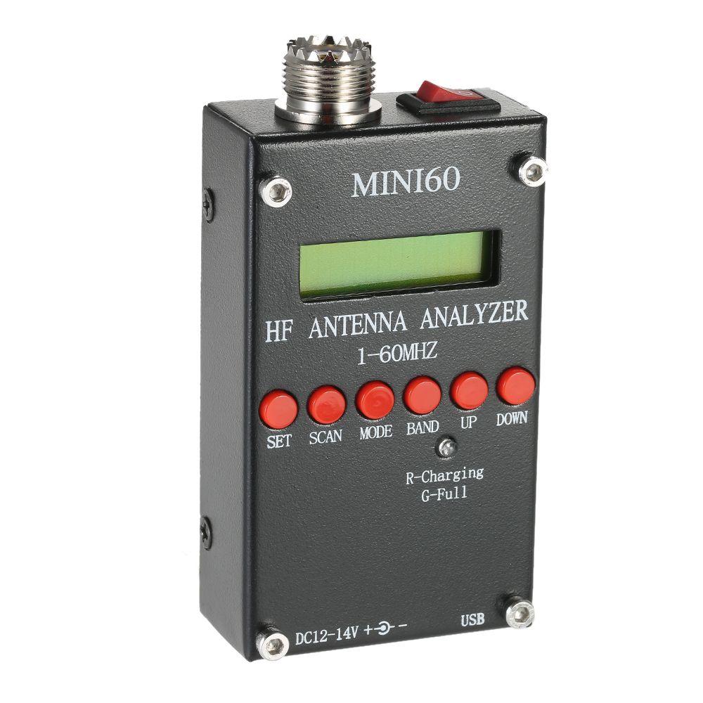 Mini60 Antenna Analyzer Meter 1-60MHz SARK100 AD9851 HF ANT SWR for Ham Radio Hobbists