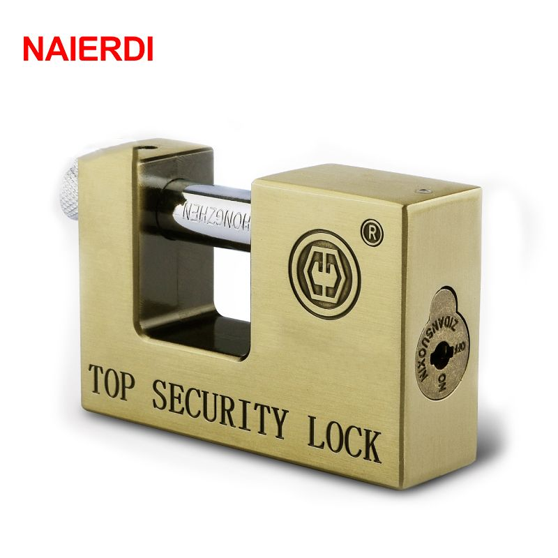 NAIERDI E9 Series Archaize Super B Grade Padlocks Safe Anti-Theft Lock Rustproof Antique Bronze Security Locks For Home Hardware