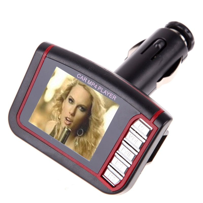 VODOOL 1.8 LCD Car MP3/MP4 Player FM Transmitter Modulator Support SD MMC Card Car Audio With Remote Control Car Electric