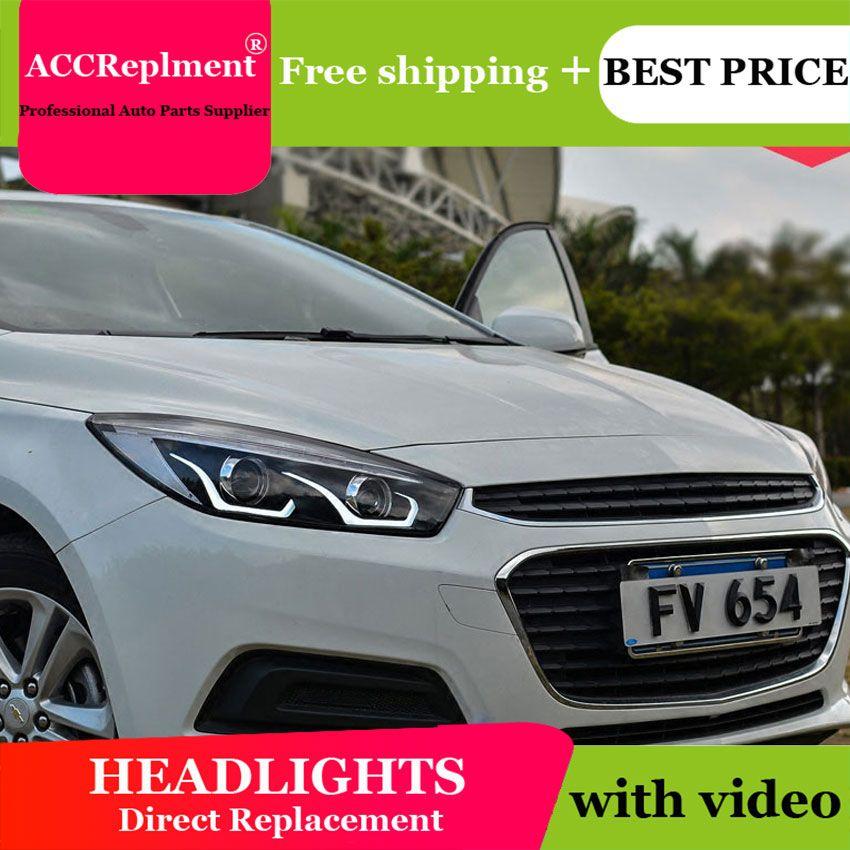 Auto styling Für Chevrolet Cruze scheinwerfer U engel augen 2014-2016 Für Cruze LED licht bar Q5 bi xenon objektiv Led-lampe projektor