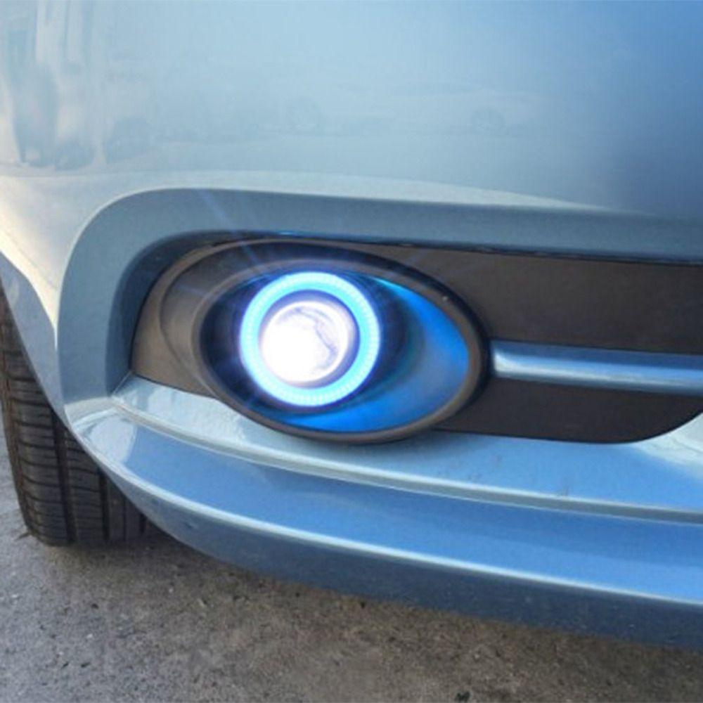 A Pair/Set 64mm/76mm/89mm 30W 2000LM LED COB Angel Eyes Daytime Running Light Car Vehicle Universal Fog Lights for BMW for Benz