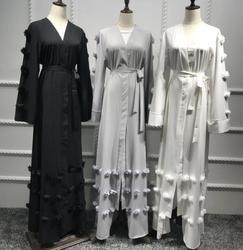 2018 adultos Casual cardigan flor Musulmane turco Dubai moda Abaya vestido musulmán adoración árabe servicio Wj1886