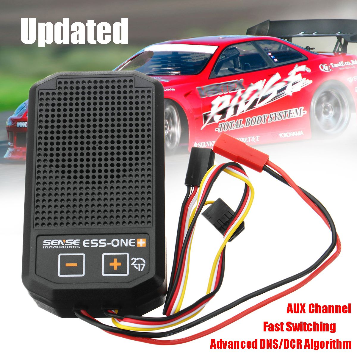 DNS/DCR Sense Innovations One Plus 2017 Real Engine Sound Simulator Kit RC Car Parts Advanced Overload Protected Intelligent