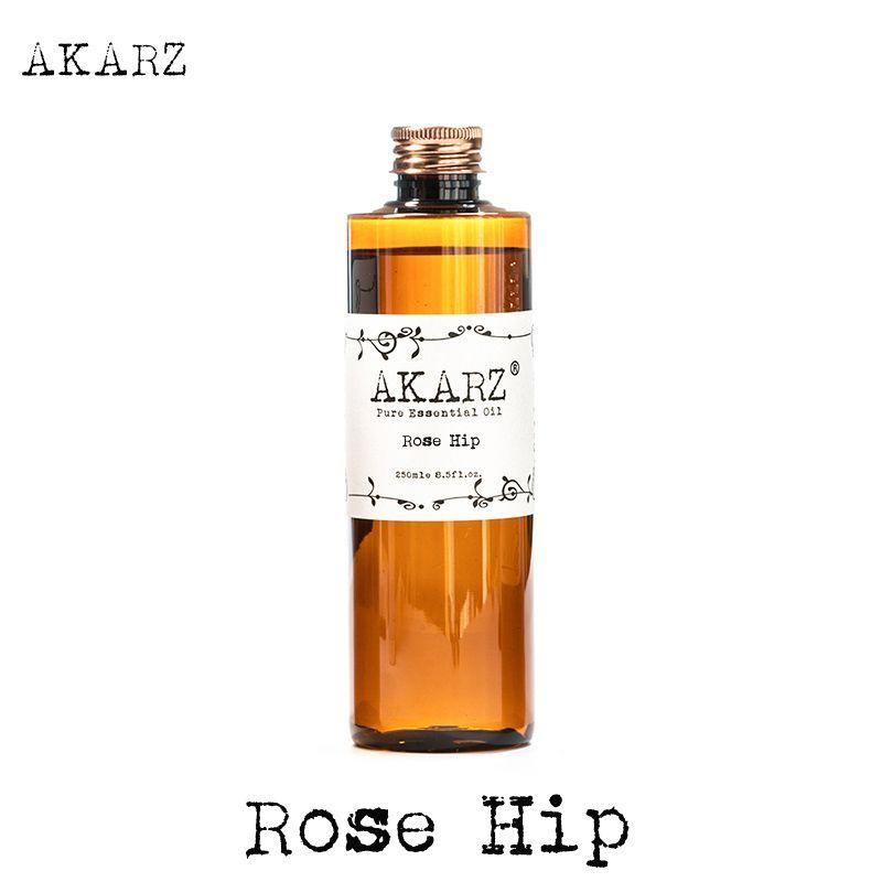 AKARZ Célèbre marque rose hip huile naturelle aromathérapie haute-capacité de la peau soins du corps massage spa rose hip huile essentielle