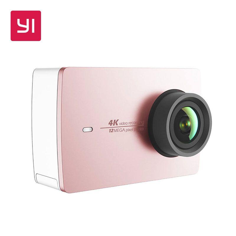 YI 4K Action Camera Pink Mini Sports Camera Ambarella 12MP CMOS EIS Wifi 155 degree International Version Model Rose Gold