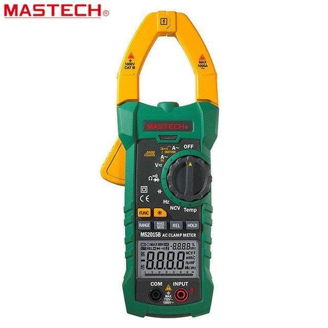 MASTECH MS2015B 1000A AC Clamp Meters with Resistance,Capacitance,Frequency,Temperature and NCV Test