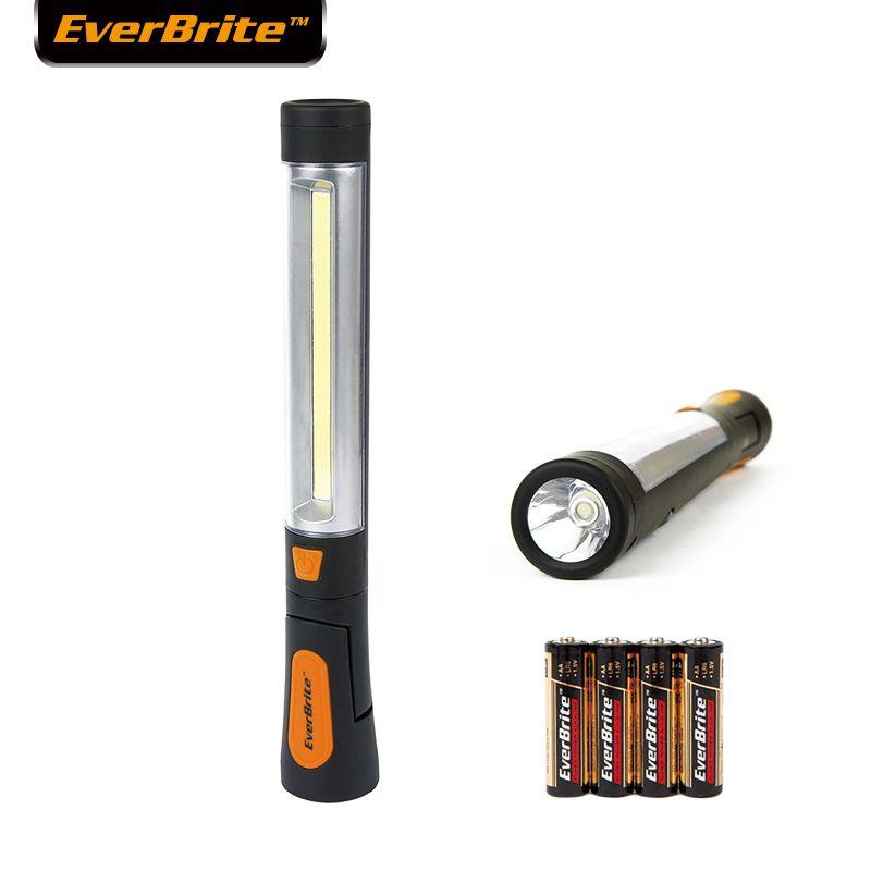 EVERBRITE COB lumière LED lampe de travail pivotante lampes de secours lampe de poche Portable/lampe de travail 4AAA piles