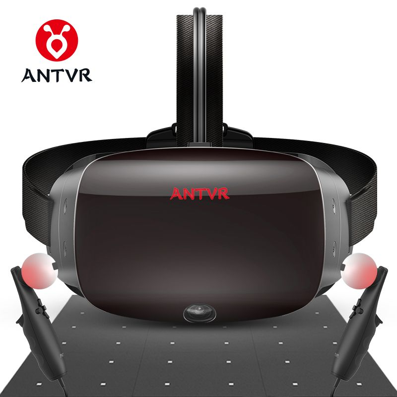 ANTVR VR Headset 2 Karat Virtual Reality 3d-brille Für PC kompatibel mit Dampf VR Cyclop 5,5 Dual OLED Helm virtual pc gläser