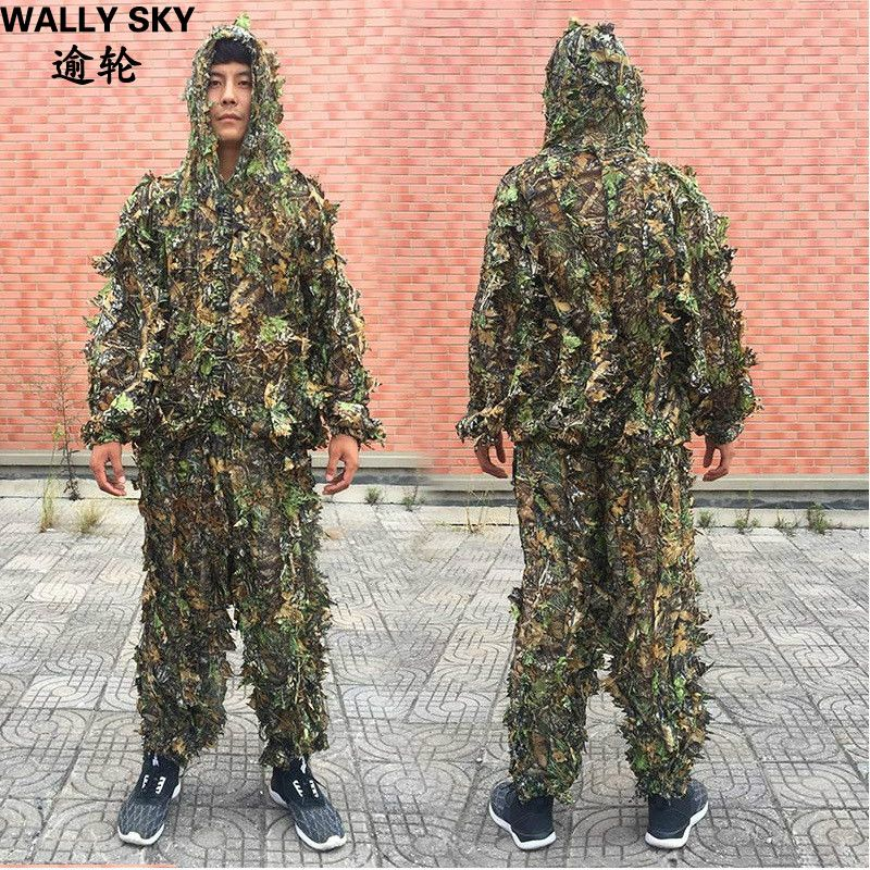 CS 3D Tactical Yowie Sniper Camouflage Clothing Bionic Ghillie Suit Camouflage Hunting Clothes Outdoor Tactical Hunting Suits