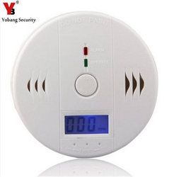 YobangSecurity LCD CO Carbon Monoxide Poisoning Sensor Monitor Alarm Detector White