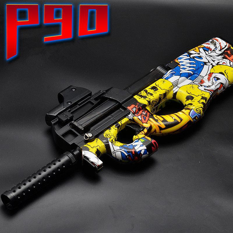 P90 Electric Toy GUN Water Bullet Bursts Gun <font><b>Graffiti</b></font> Edition Live CS Assault Snipe Weapon Outdoor Pistol Toys lepin