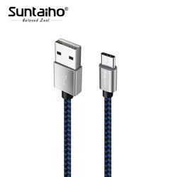 Suntaiho 3.1 USB tipo C cable 1 m 2 m 3 M carga rápida de datos de sincronización cable para Samsung Galaxy s8 interruptor oneplus 5 xiaomi MI6 MI5 USB C