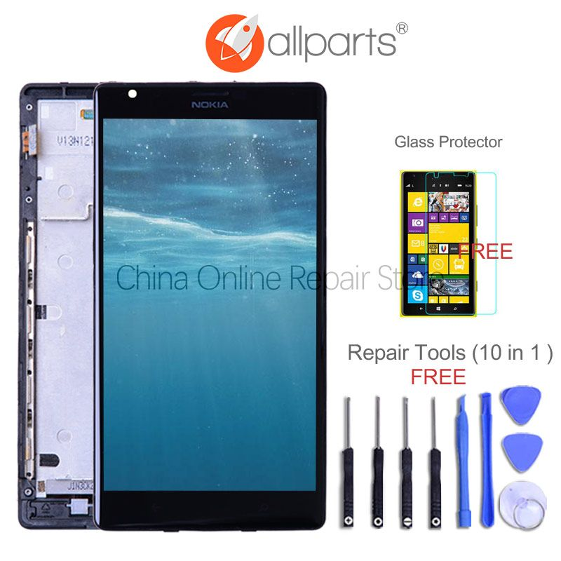6.0'' Original Display For NOKIA Lumia 1520 LCD Touch Screen with Frame For NOKIA Lumia 1520 Display Replacement RM-937 RM-940