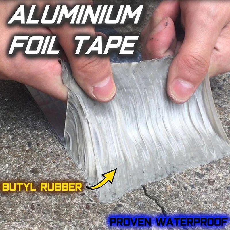 Nouvellement bande de caoutchouc butylique de papier d'aluminium auto-adhésif imperméable pour la réparation Marine de tuyau de toit