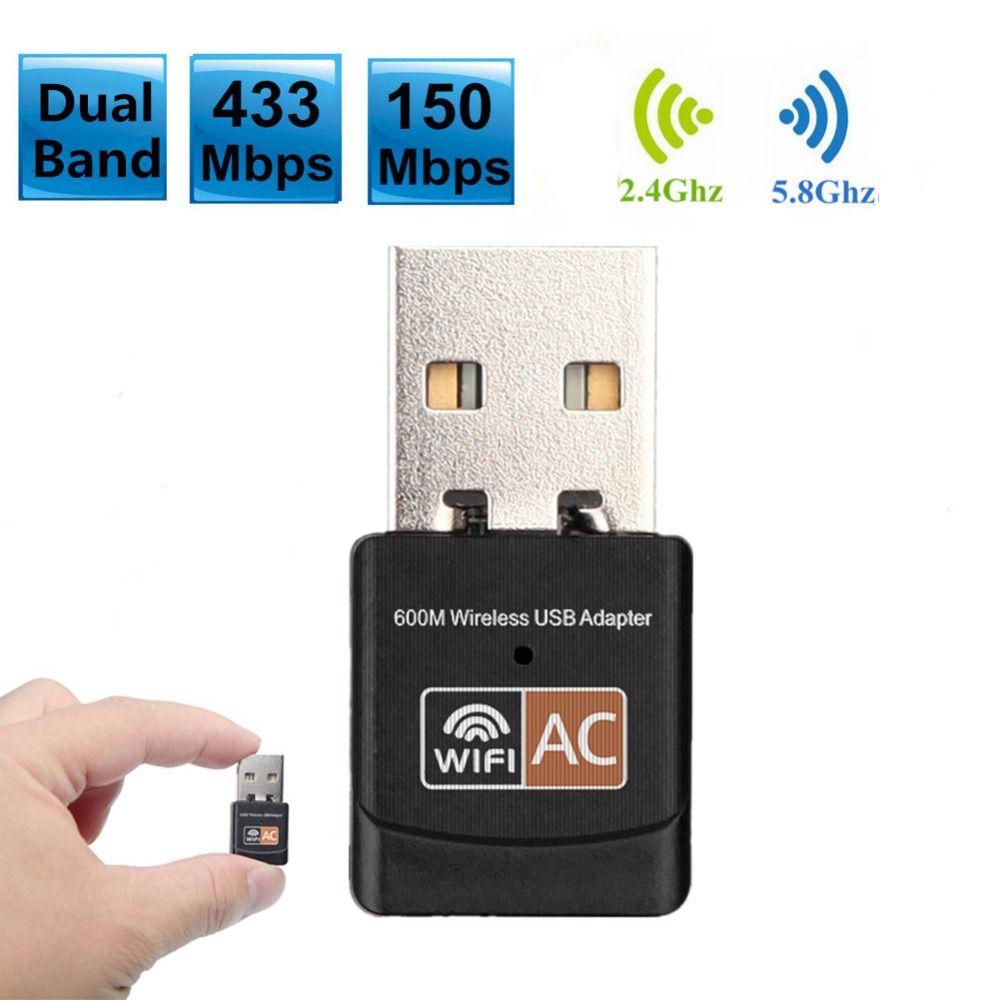 600 Mbps Dual Band 2.4G/5 GHz Sans Fil Carte Réseau Mini Lan USB 2.0 Ordinateur PC WiFi Adaptateur Wi-fi Adaptador 802.11AC