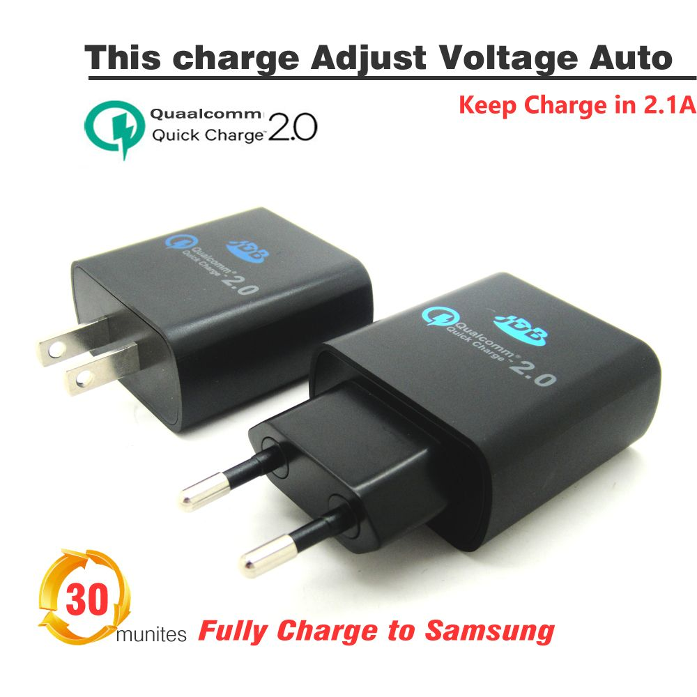 Quick Charge 2.0 QC 2.0 USB Charger ,JDB Travel Wall Charger Adaptor EU US Plug Smart Phone Charger for Mobile Tablet PC