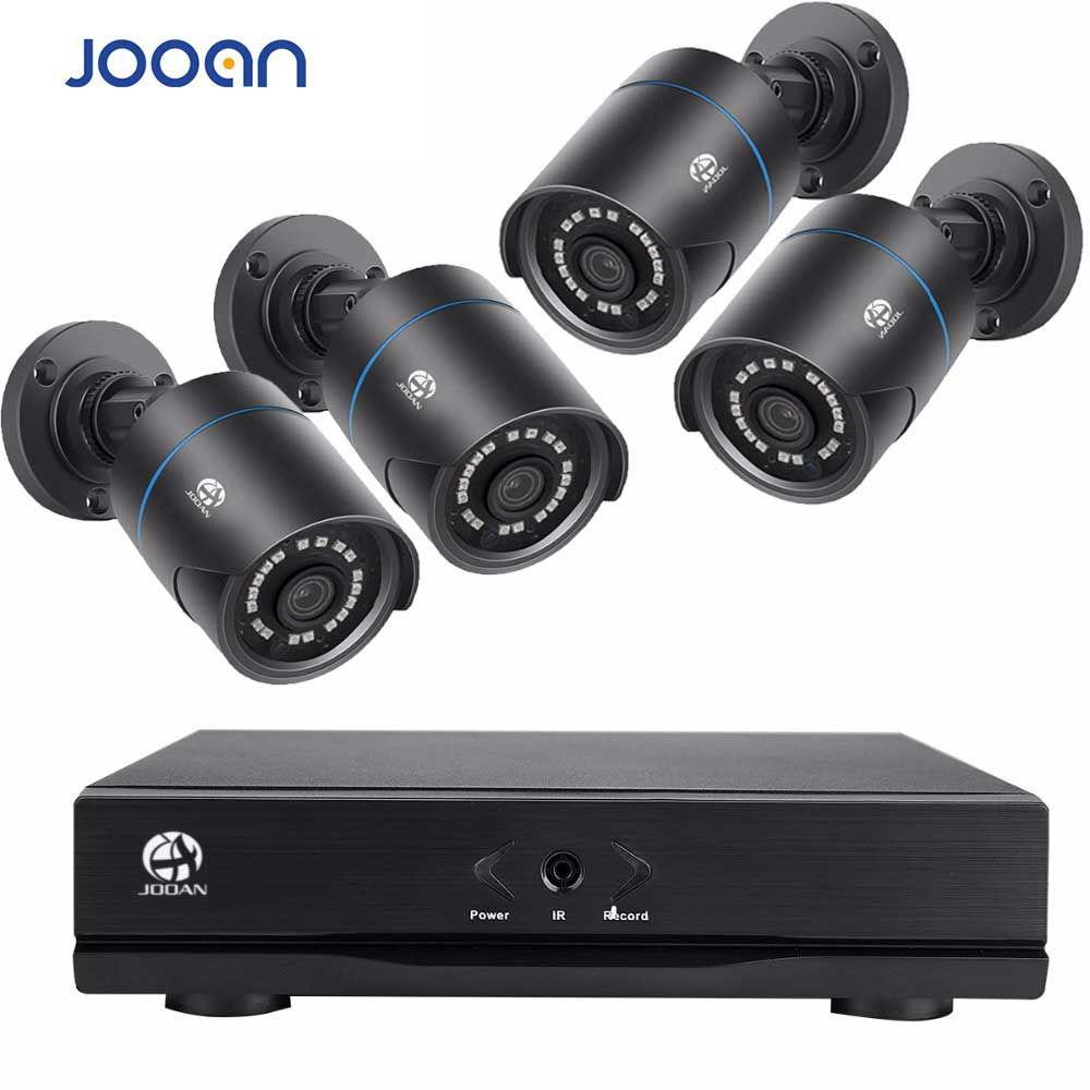 JOOAN Sans Fil Système de Caméra de Sécurité 4 Canaux 1080 p Enregistreur Vidéo CCTV NVR 4x2.0 MP WIFI Extérieure Réseau IP Caméras kit