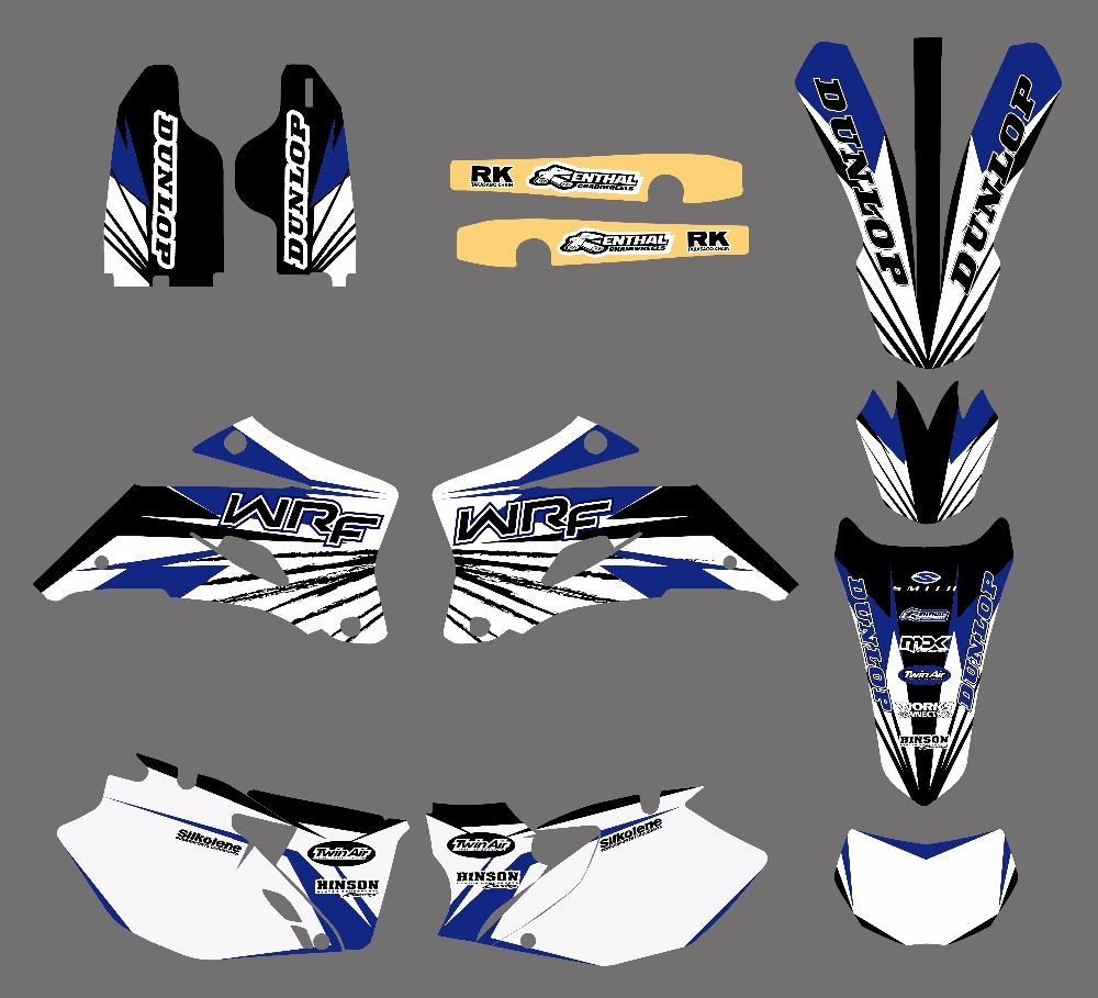 0031 New TEAM GRAPHICS BACKGROUNDS DECALS STICKERS Kits Fits For YAMAHA WR250F WR450F WR 250F 450F 2007-2011 Motorcycle Sticker