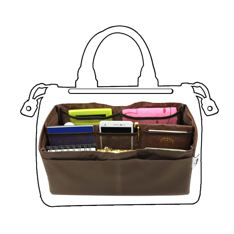 Amasie New Arrvial Boston Inner Storage Bag Nylon Bag Zipper Container Solid Color EGT0340