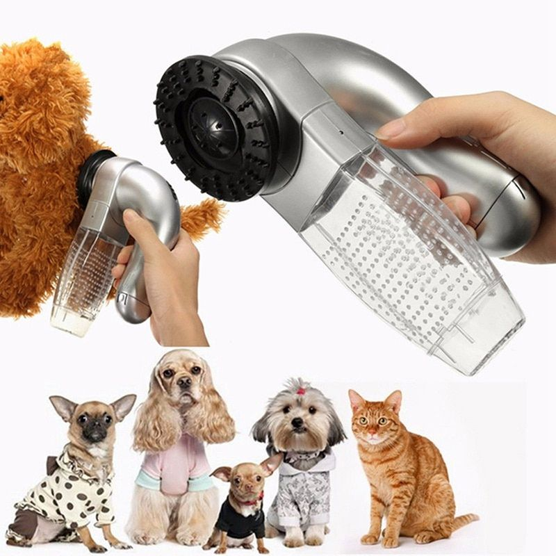Electric Pet Vac Hair Remover Dog Supply Cat Grooming Vacuum Clean Brush Fur Pet Product for Dog