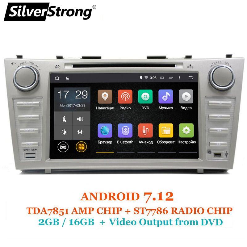 SilverStrong 1024*600 2Din Android7.12 2 gb RAM Auto DVD Für TOYOTA CAMRY AURION v40 2007-11 auto radio mit google spielen