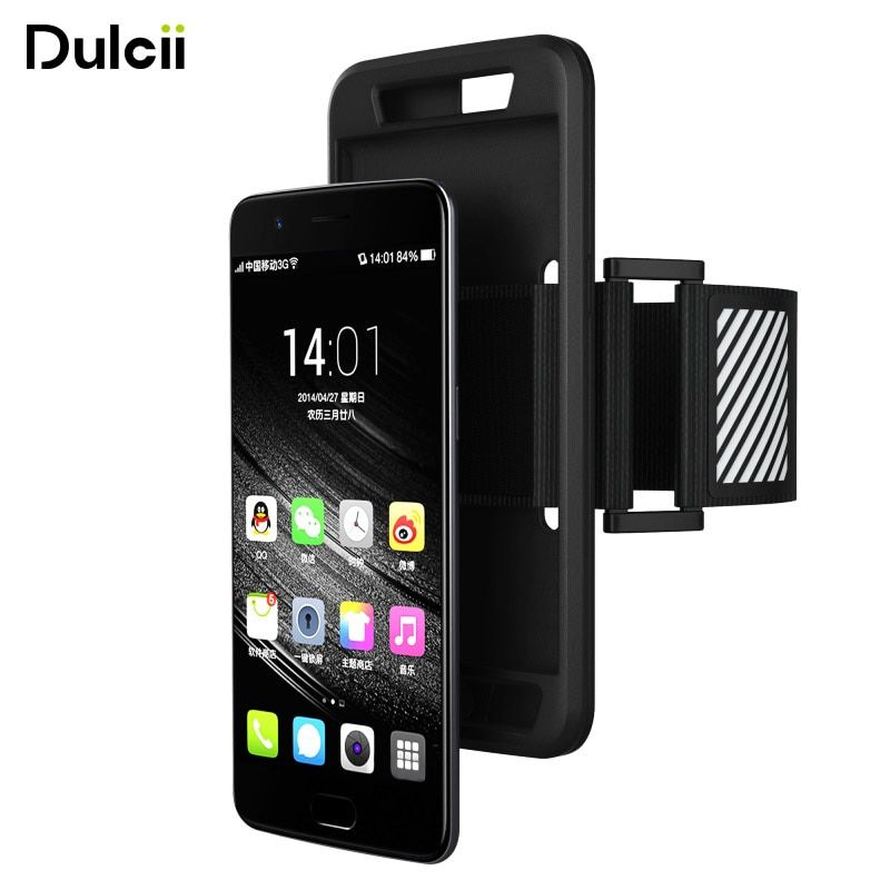 DULCII Sport Case for One Plus 5 Oneplus 5 Oneplus5 Smartphone Arm Band Sweat-proof Sports Armband Silicone Mobile Protect
