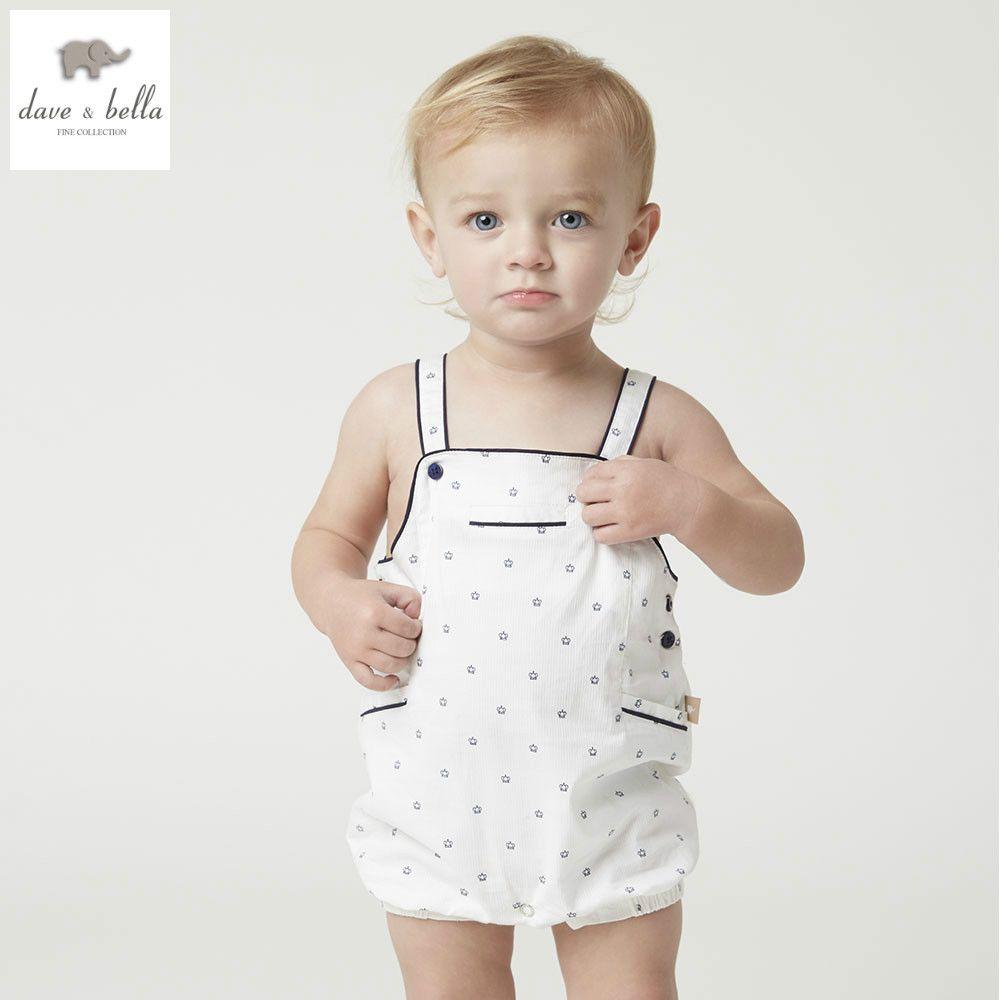 DB4997 dave bella d'été nouveau-né bébé filles garçons coton barboteuse childs infantile barboteuse enfants belle barboteuses 1 pc enfants barboteuse