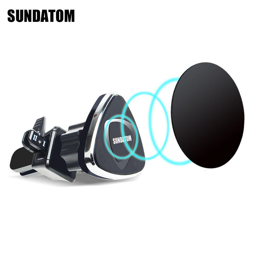 Support magnétique universel pour voiture support pour téléphone support magnétique rotatif pour iPhone 7 accessoires de téléphone