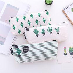 1pcs Green Nature School Supplies Pencil Case Kawaii Student School Cosmetic Bag for Women Office Supplies Escolar Canvas