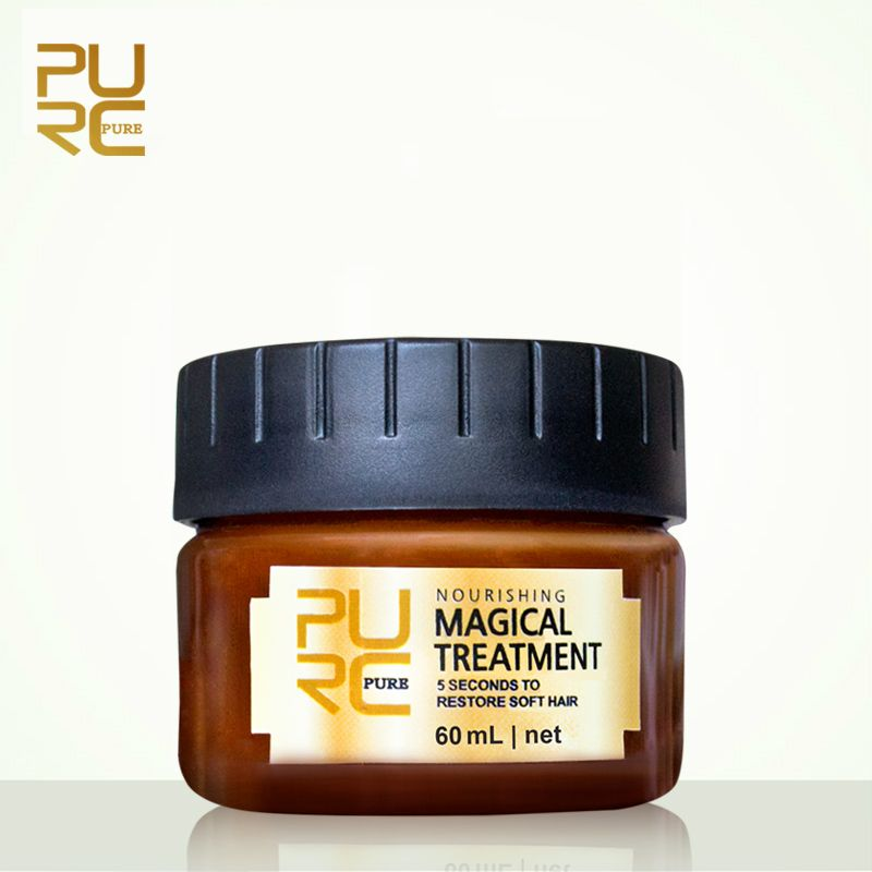 PURC Magique traitement masque 5 secondes Réparations dommages restaurer doux cheveux 60 ml pour tous les types de cheveux kératine Cheveux et traitement du cuir chevelu